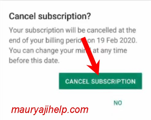 Google play store subscription cancel